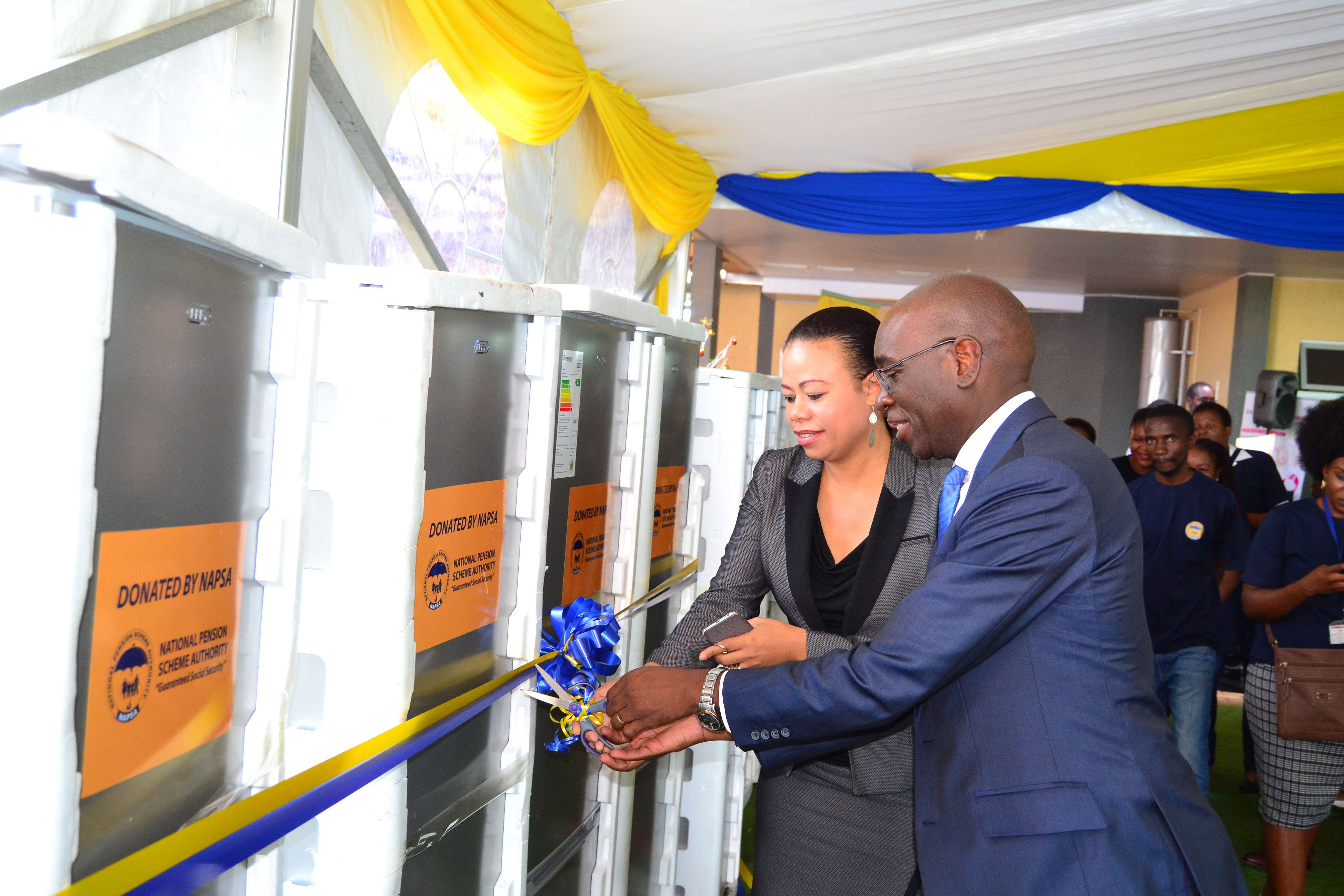 NAPSA donates refrigerators to the Cancer Diseases Hospital to support the health facility's nutrition program