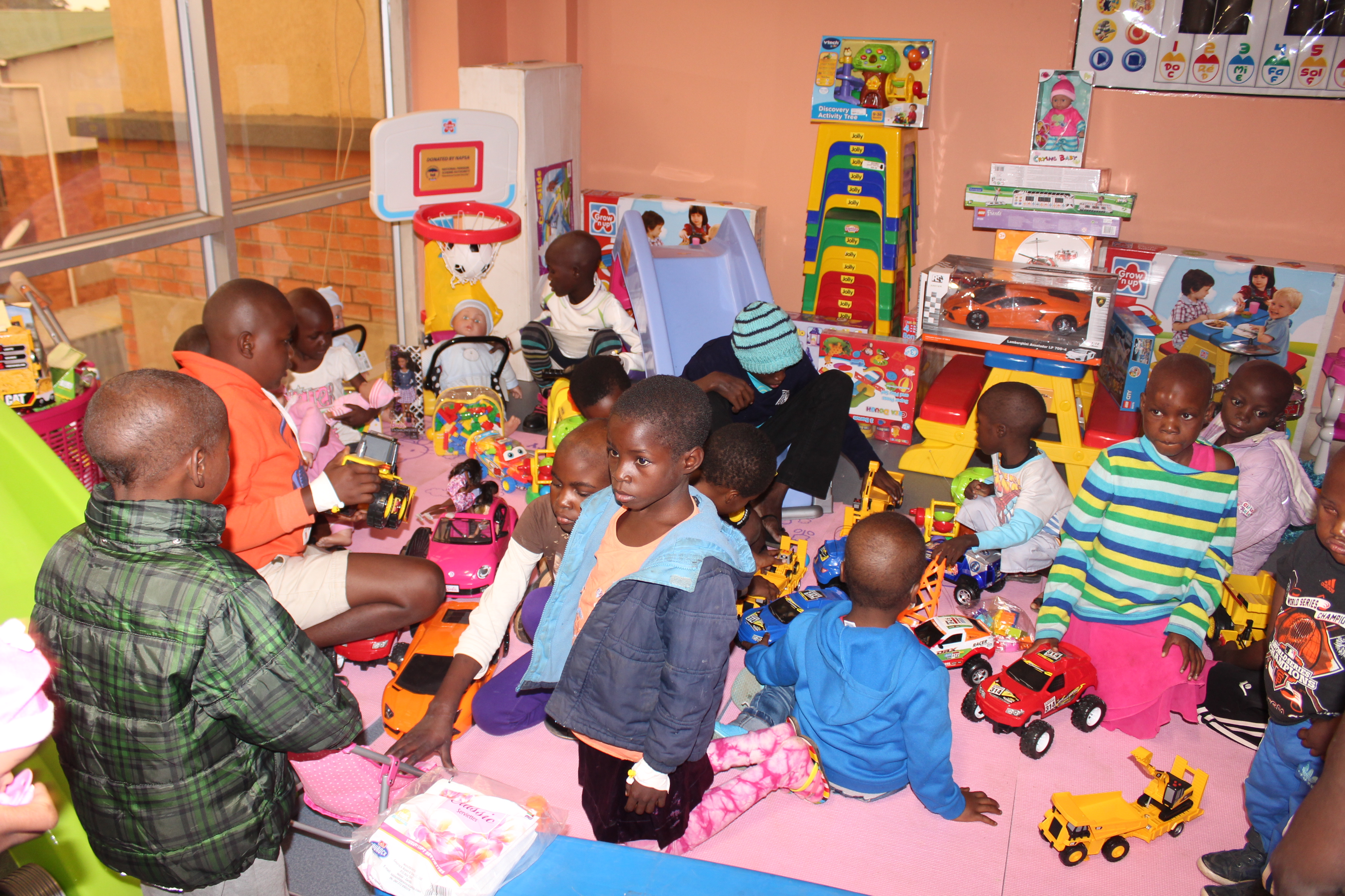NAPSA equips the pediatric ward at the Cancer Diseases Hospital with toys and books for recreation